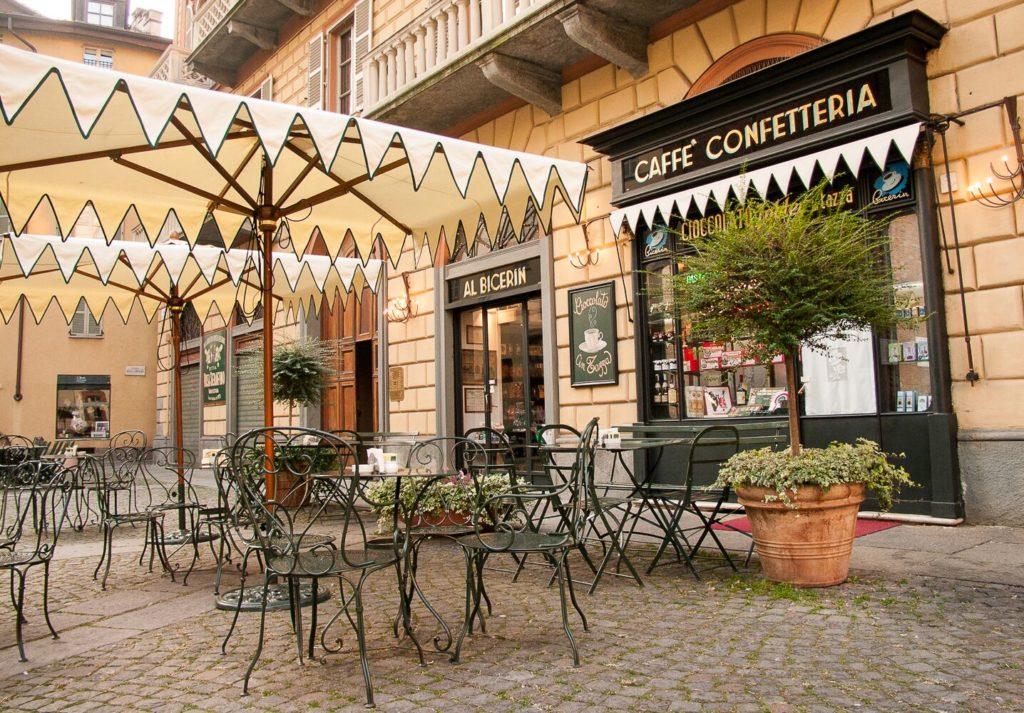 Café Bicerin dans le centre de Turin.
