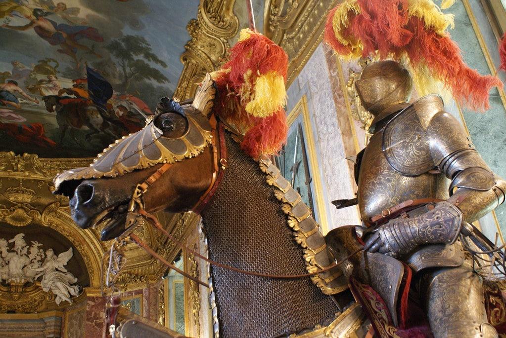 Dans l'armumerie du Palais Royal dans le centre historique de Turin.