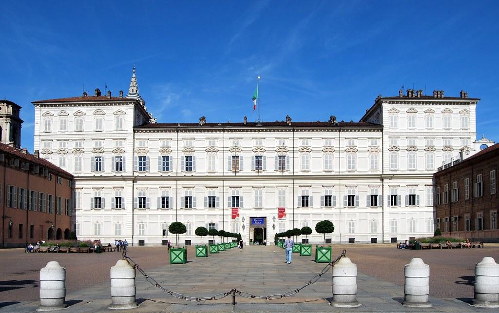 Palais Royal dans la vieille ville de Turin. Photo de Giovanni