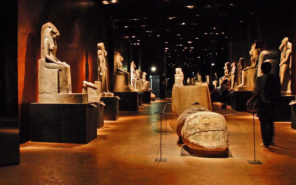 Dans le musée Egyptien de Turin dans le centre historique - Photo de Jean Pierre Dalbéra