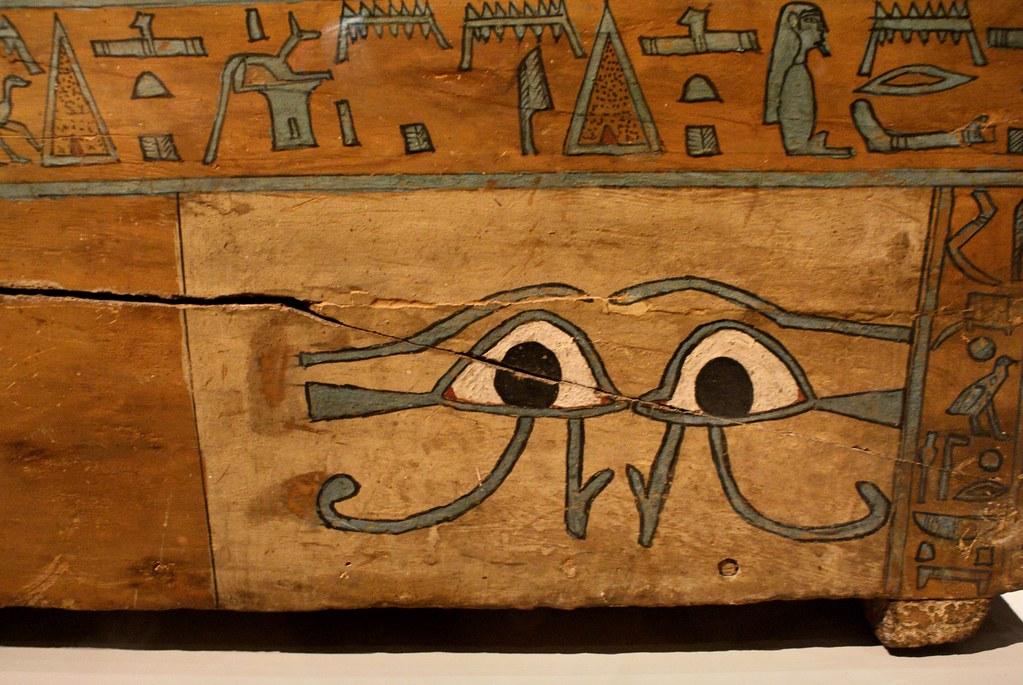 Dans le musée Egyptien de Turin dans le centre historique