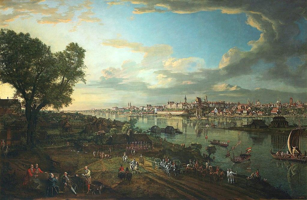 > Vue de Varsovie depuis Praga en 1770 par Bellotto (Canaletto)