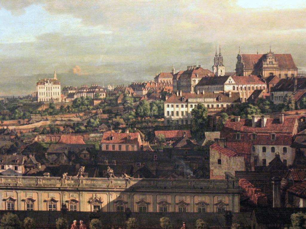 Vue sur Varsovie depuis le Chateau Royal par Bellotto (1773).