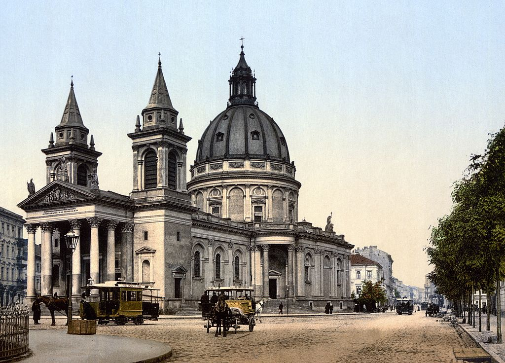 Eglise Alexandre à Varsovie vers 1900.