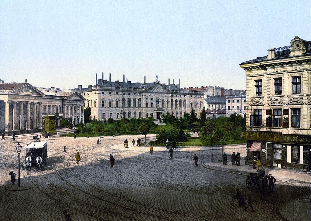 Place Krasinski à Varsovie vers 1900.
