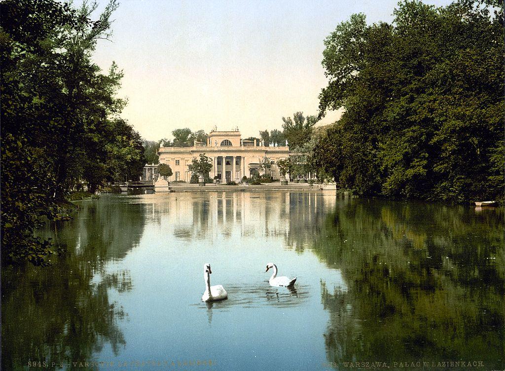 Palais d'été des Lazienki à Varsovie vers 1900.