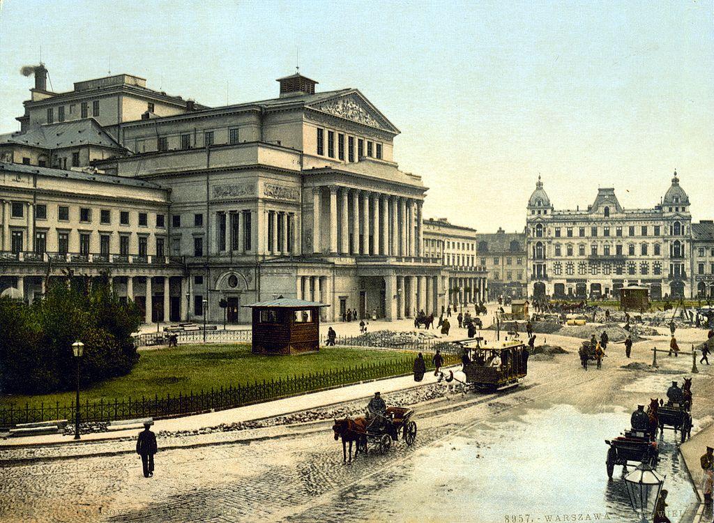Théâtre de Varsovie vers 1900.