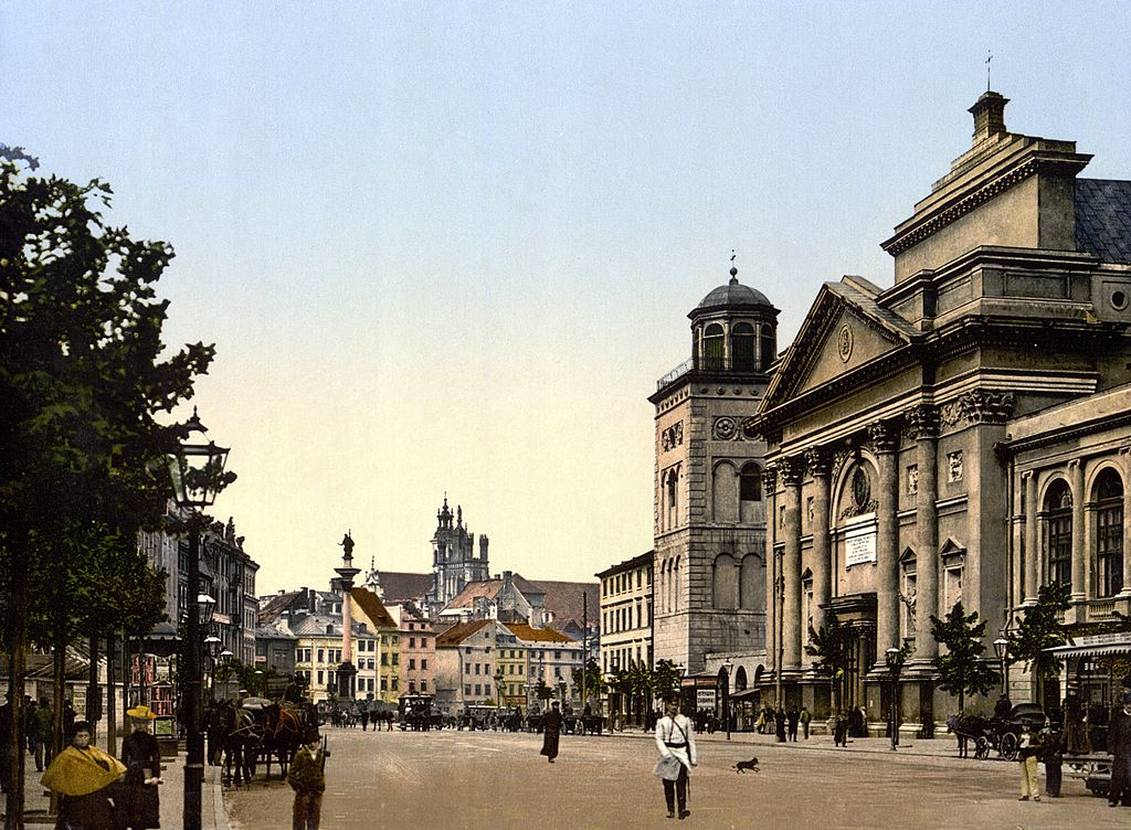 Krakowskie przedmiescie à Varsovie vers 1900.