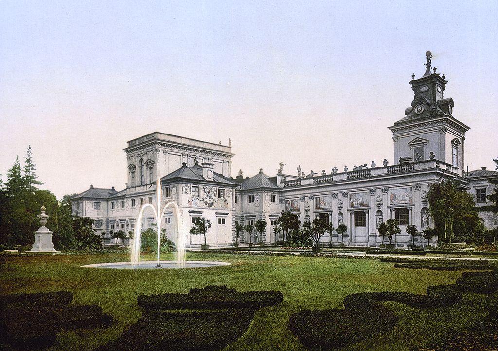 Palais de Wilanow au sud de Varsovie vers 1900.