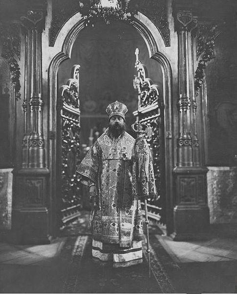 Pope Dionizy Waledyński dans l'église orthodoxe Sainte Madeleine de Varsovie en 1925.
