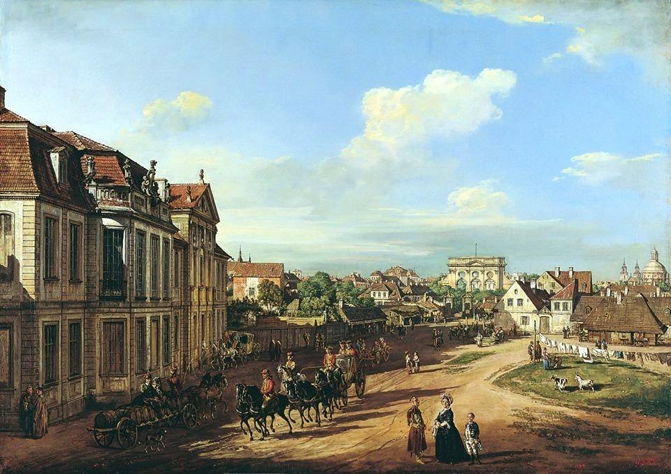 """Varsovie """"Derrière le portail de fer"""" par Bellotto vers 1779."""