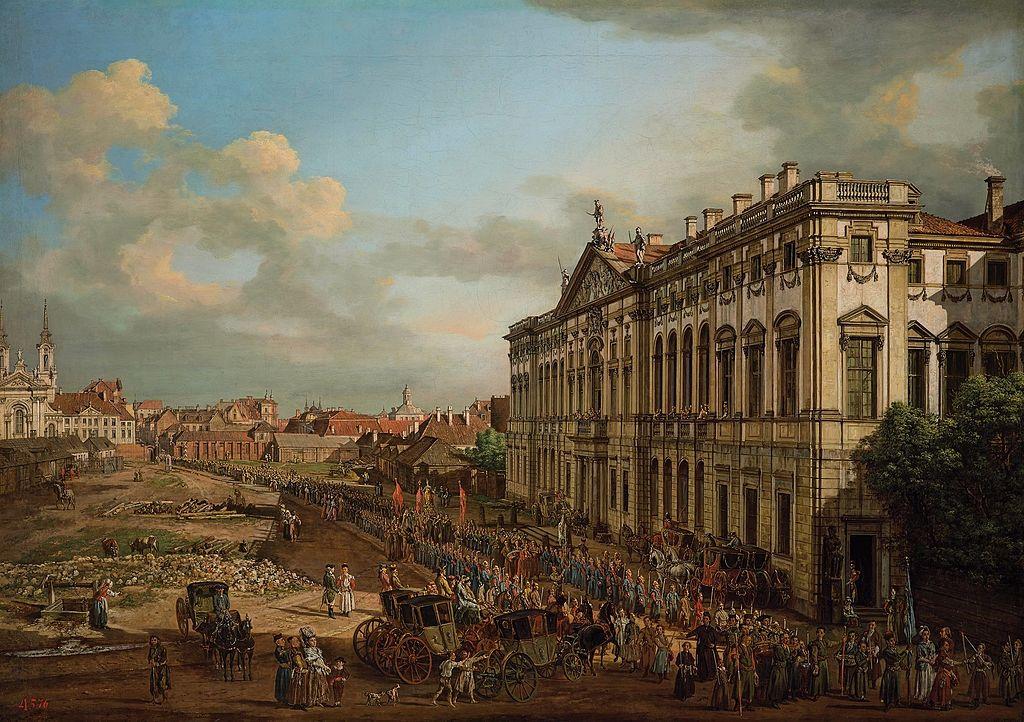 Place Krasiński à Varsovie par Bellotto.