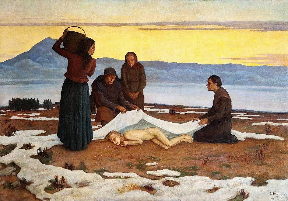 """Peinture de Berent """"Réveil du printemps"""" (1929) au Musée National de Varsovie."""