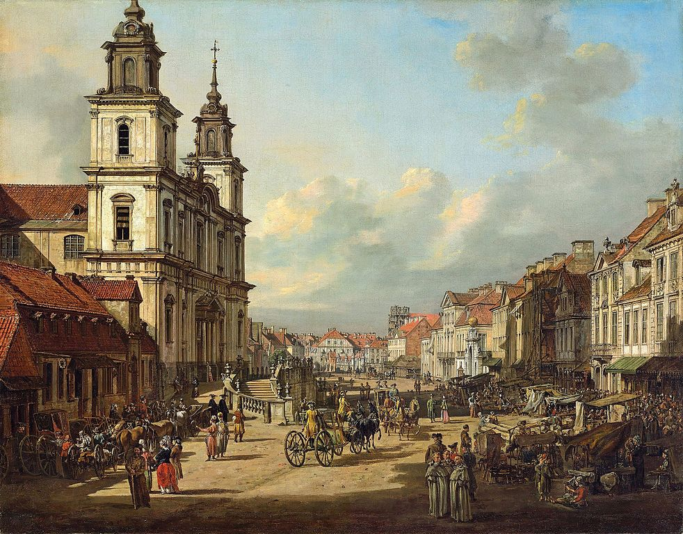 Eglise de Sainte Croix à Varsovie par Bellotto.