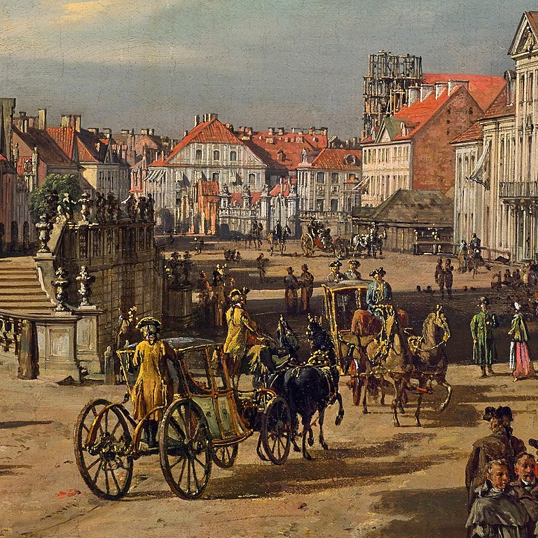 Peinture de Varsovie et de l'église Sainte Croix par Bellotto (1773).