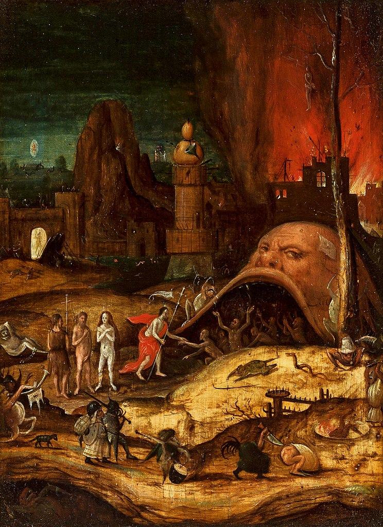 """""""Descent into Limbo"""" de Herri met de Bles (1550) d'après Hieronymus Bosch au Musée National de Varsovie."""