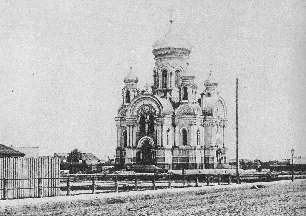 Eglise orthodoxe de Praga à Varsovie vers 1869.