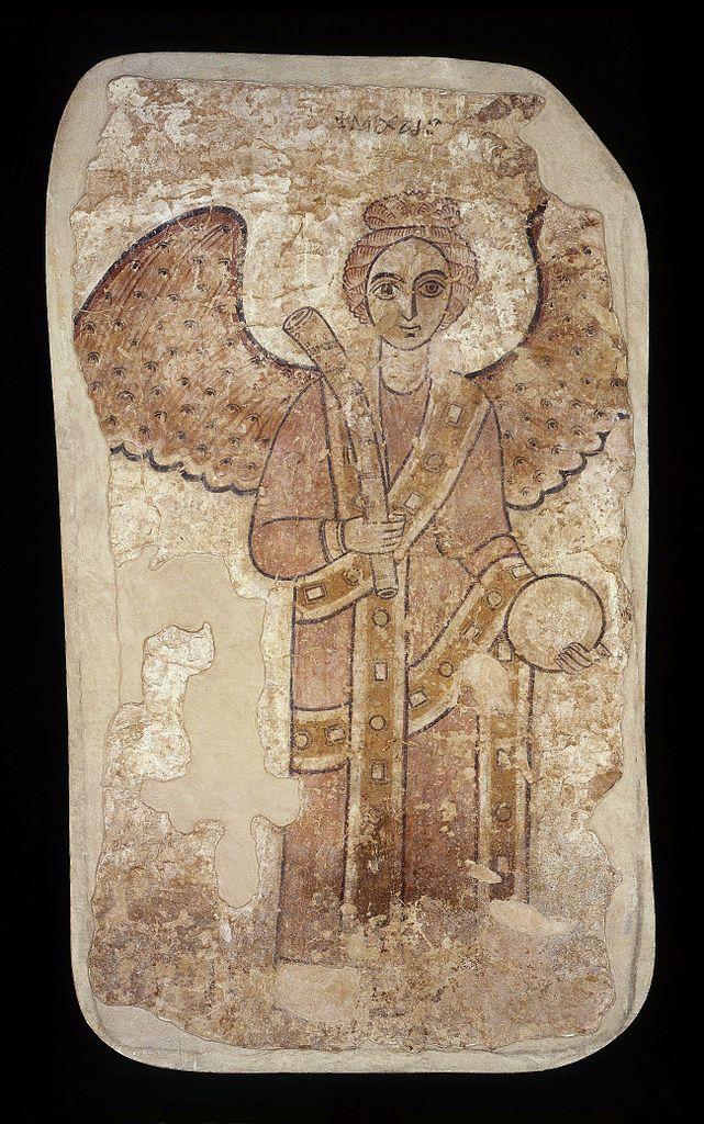 """""""Archange Saint Michel"""" (vers 800) découvert à Faras au Soudan au Musée National de Varsovie."""