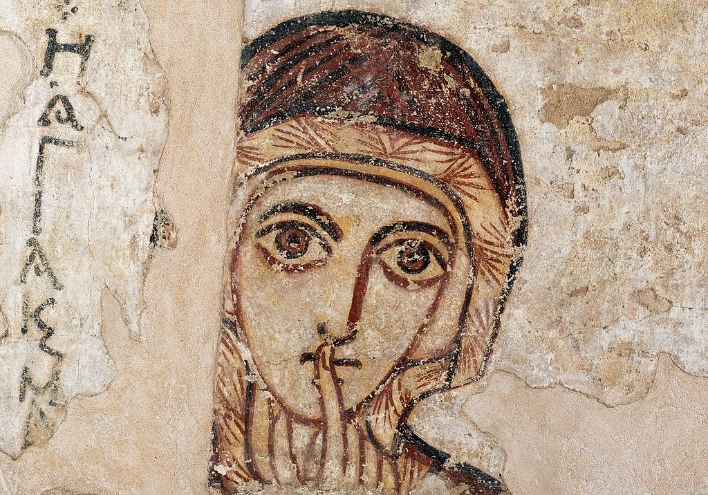 """""""Saint Anne"""" (vers 700) découverte à Faras au Soudan au Musée National de Varsovie."""