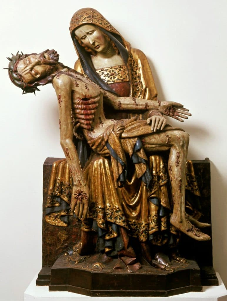 Pietà de Lubiąż (1370) au Musée National de Varsovie.