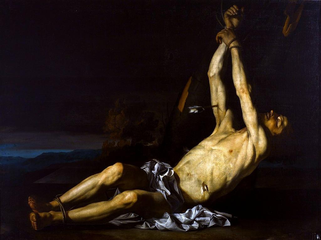"Peinture ""Saint Sebastien"" par Guarino (1650) au Musée National de Varsovie."