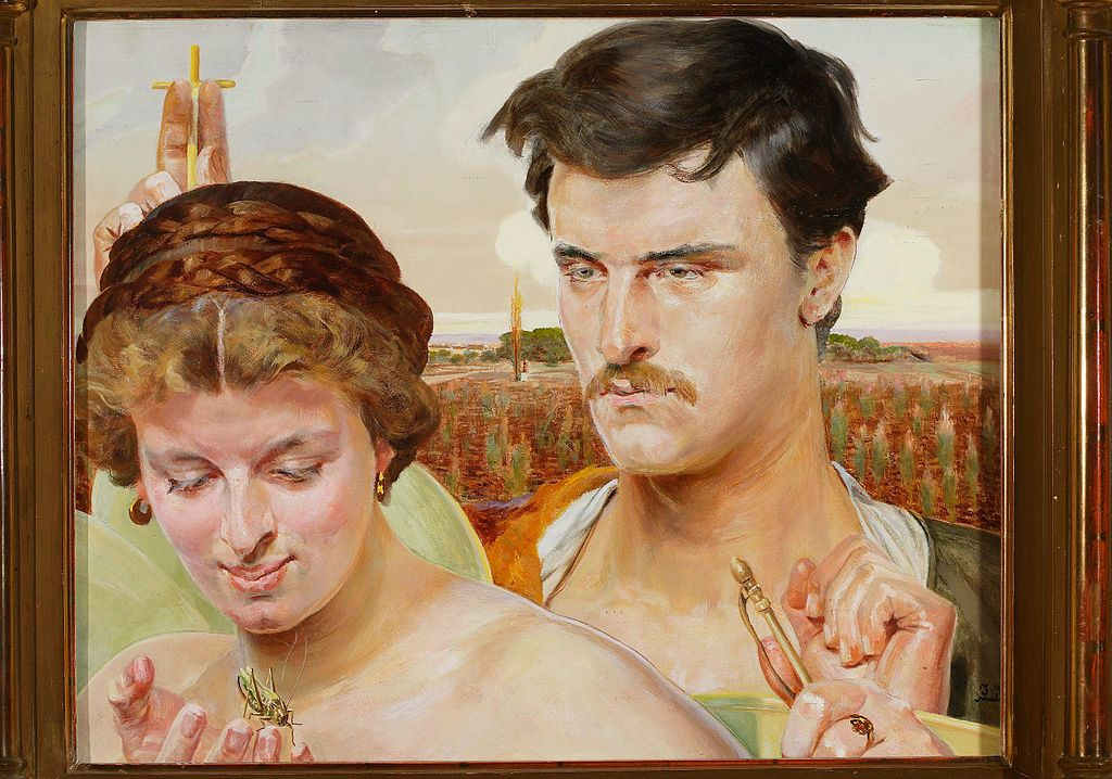 """""""Musique"""" (part d'un triptyque de 1906) de Jacek_Malczewski au Musée National de Varsovie."""