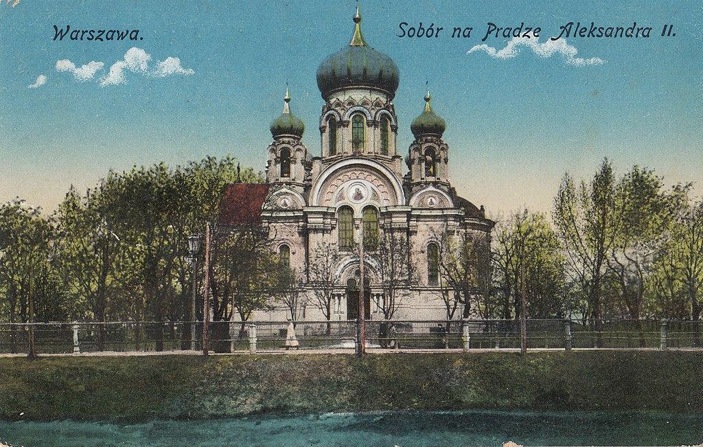Eglise orthodoxe Sainte Madeleine à Varsovie avant 1916.