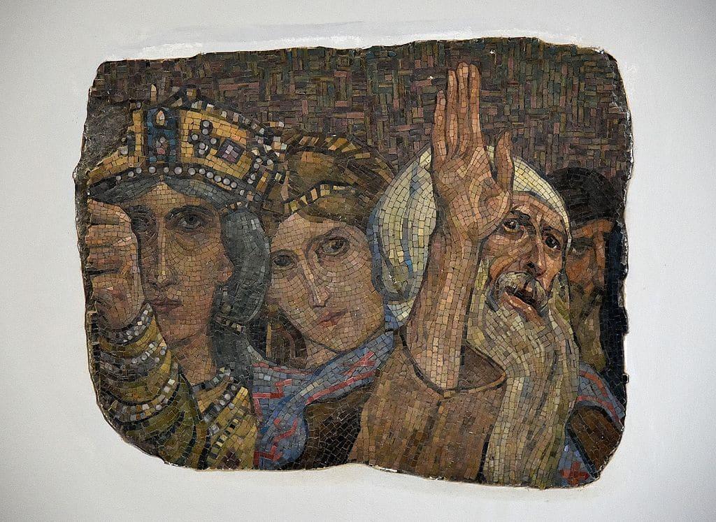 Fragment d'une mosaique de la Cathédrale orthodoxe Alexander Nevsky à Varsovie. Photo d'Adrian Grycuk
