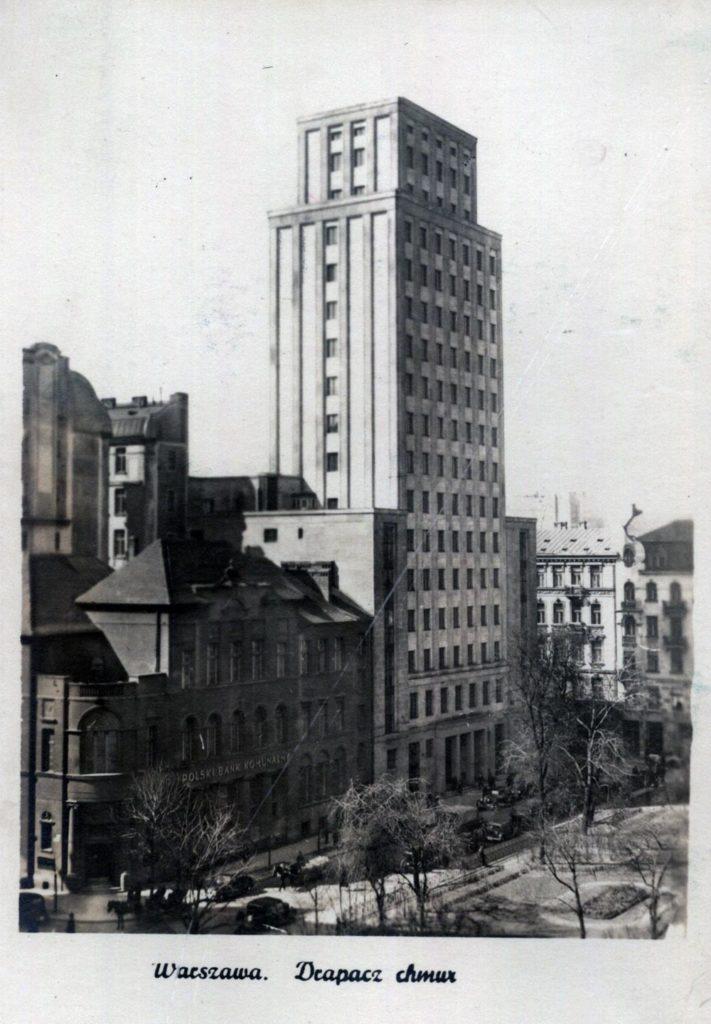 Le premier gratte-ciel Prudential à Varsovie en 1935. Détruit puis reconstruit.