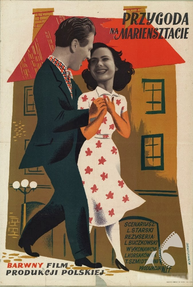 """""""Przygoda na Mariensztat"""" (1953) : Sur la reconstruction du quartier, premier long métrage polonais en couleur d'après guerre."""