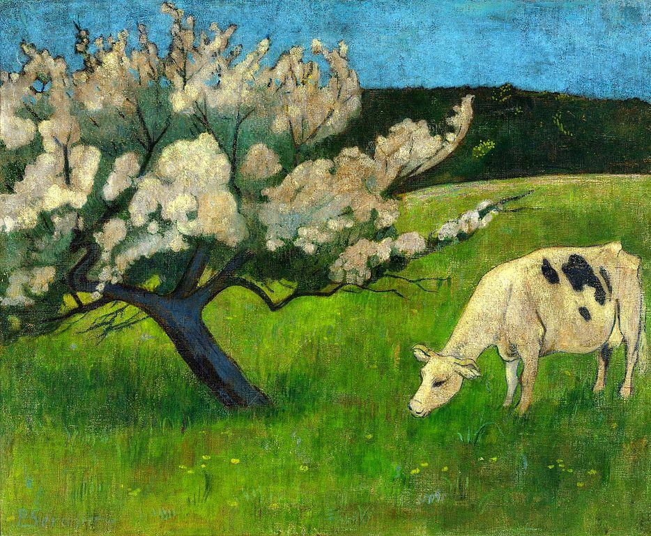 """Oeuvre de Sérusier """"Vache blanche"""" (1895) au Musée National de Varsovie."""