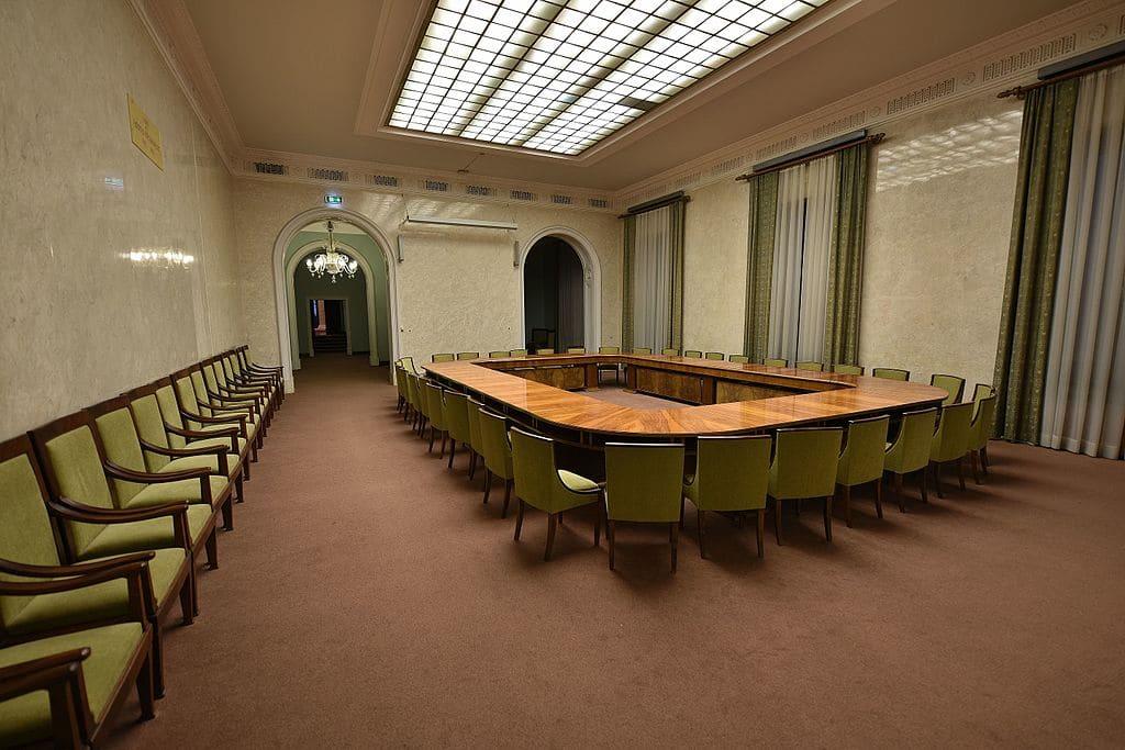 Salle Adam Mickiewicz à l'intérieur du PKiN à Varsovie - Photo de l'Adrian Grycuk