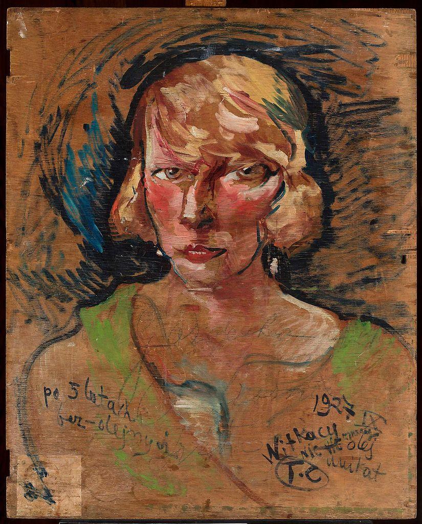 """""""Portrait Marii Stawarskiej Golińskiej"""" (1928) de Stanisław Ignacy Witkiewicz au Musée National de Varsovie."""