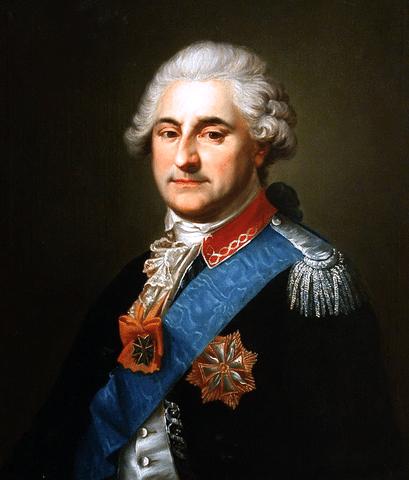 Le dernier Roi de Pologne Stanislas August Poniatowski.