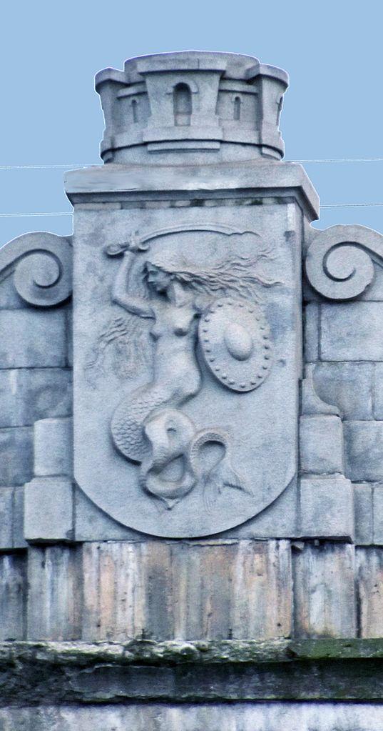 Sirène de Varsovie sur un pilier du pont Poniatowski - Photo de Panek