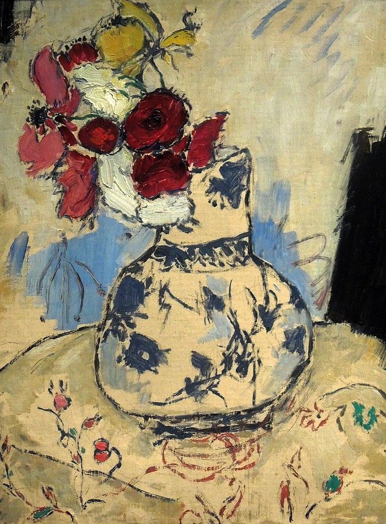 """Tableau de Tadeusz Makowski """"Fleurs dans un vase"""" (1909) au Musée National de Varsovie."""