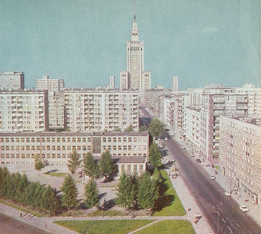 PKiN et rue Złota à Varsovie dans les années 1970.
