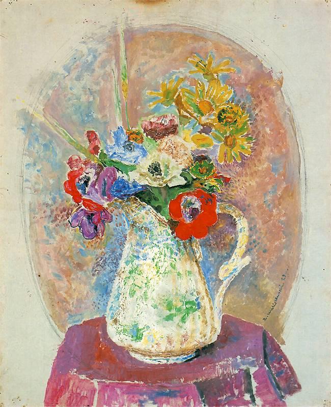 """Les Fleurs"" (1929) de Waliszewski au Musée National de Varsovie."