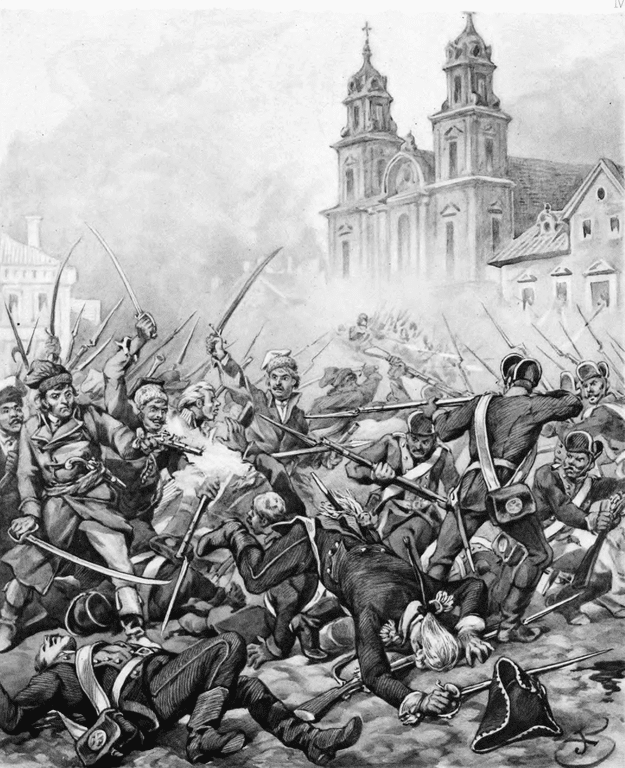 Insurrection de Varsovie en 1794 par Juliusz Kossak.