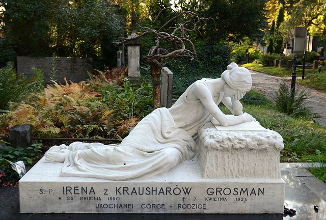 Tombe d'Irena Grosman au cimetière protestant évangélique de Wola à Varsovie - Photo de Marcin Białek