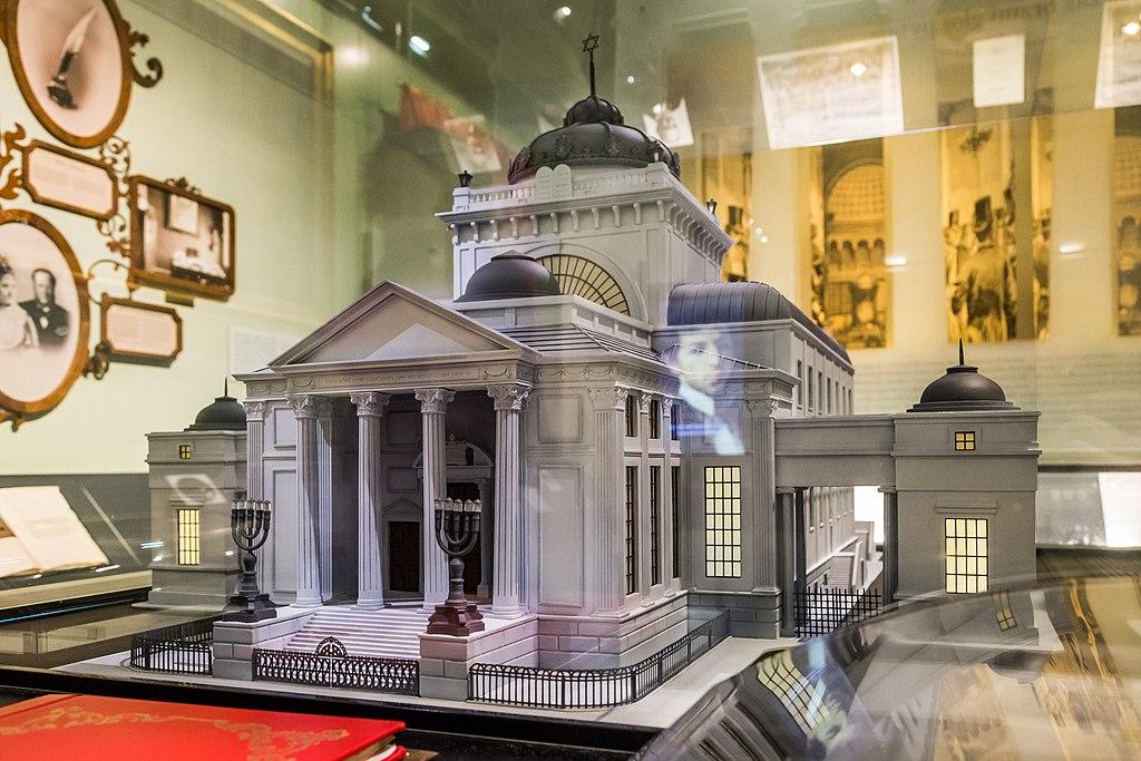 Maquette de la Grande Synagogue de Varsovie dans le Musée des Juifs de Pologne à Varsovie - Photo de Pko