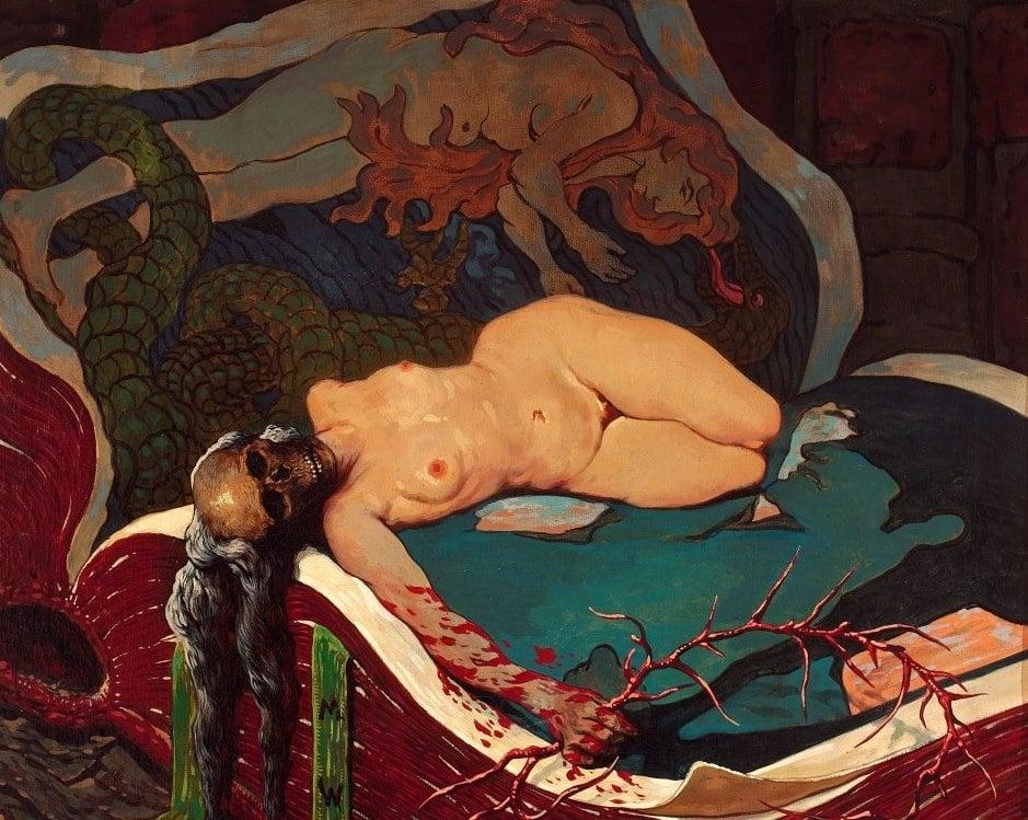"""""""Ancienne vérité"""" (1910) de Wawrzeniecki au Musée National de Varsovie."""