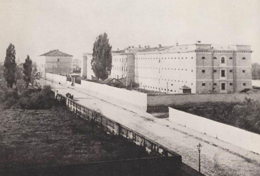 Prison Pawiak à Varsovie en 1864.