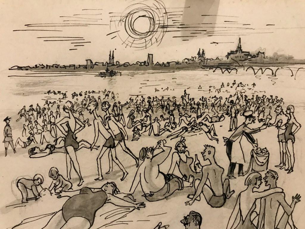 Illustration sur les plages de Varsovie.