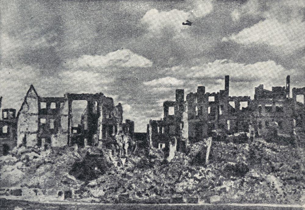 Varsovie en ruine après 1945.