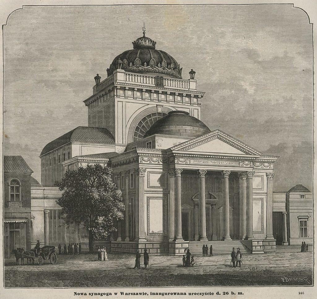 La Grande Synagogue de Varsovie détruite en 1943 par les Allemands.