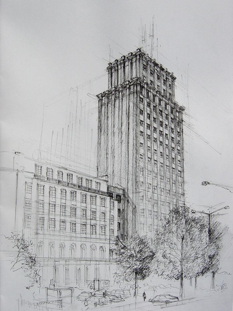 Gratte ciel Prudential à Varsovie dessiné en 2006 par kilanziom