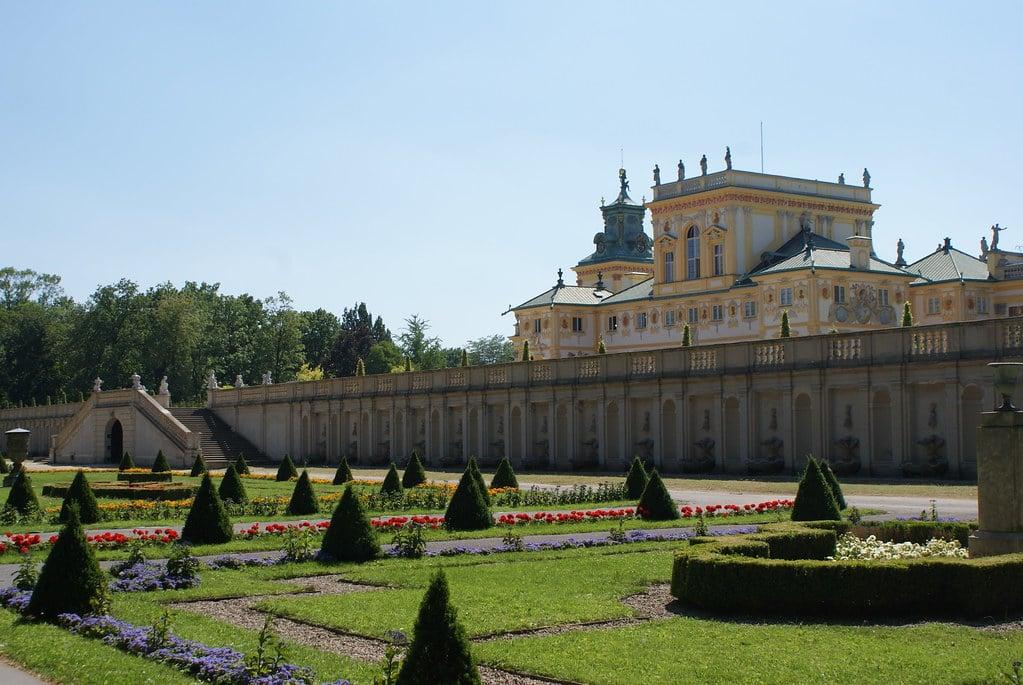 Jardin baroque du parc de Wilanow à Varsovie.