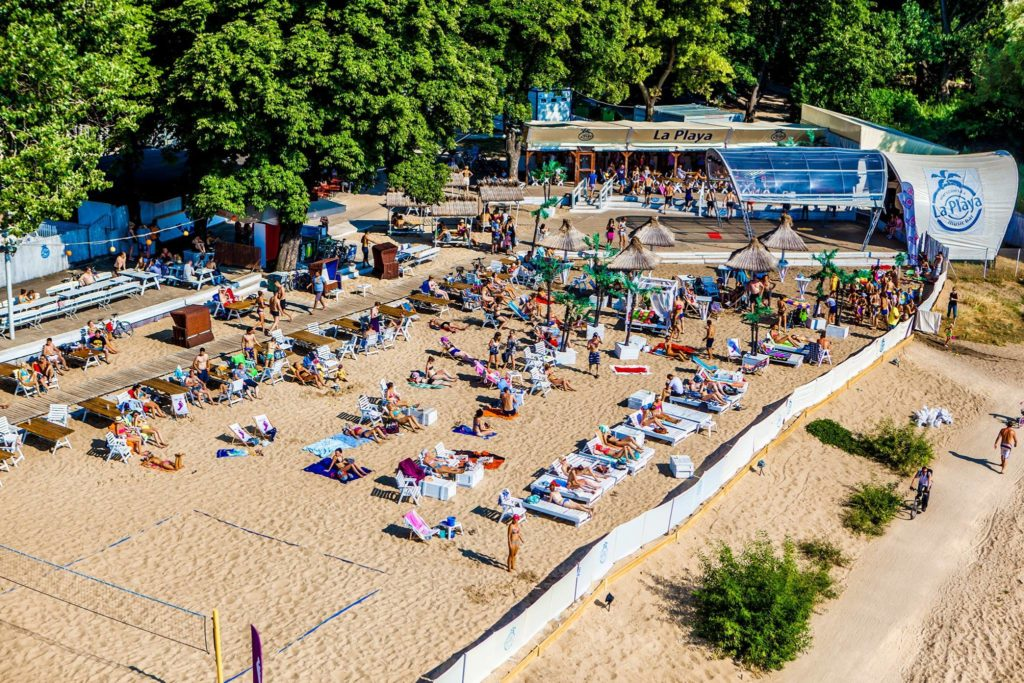 Club La Playa dans le quartier de Praga à Varsovie.