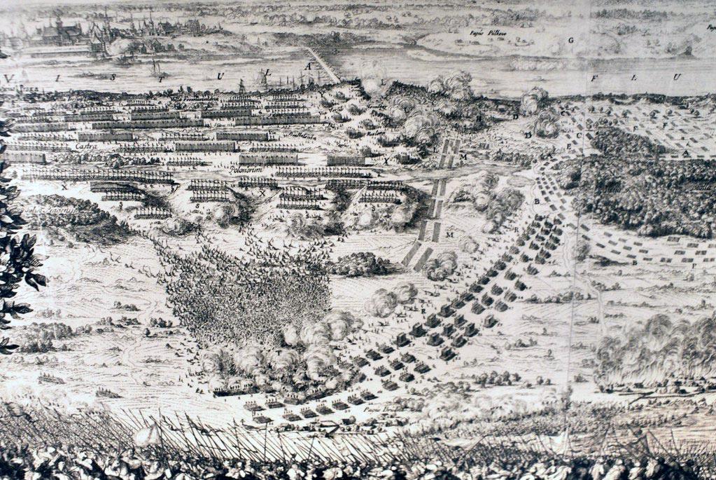 Bataille à Praga en 1655 contre les Suédois - Musée de Praga à Varsovie